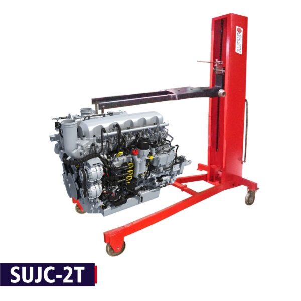 SUJC-2T Heavy Duty 2 in 1 Mobile Hydraulic Engine & Gearbox Lifting Crane