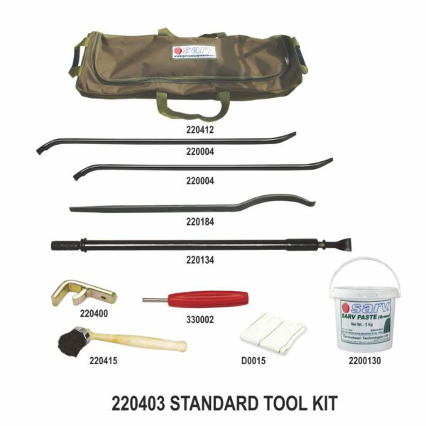 - Sarv-Tubeless Truck Bus Tractor Tyre Mount Demount STANDARD Tool Kit