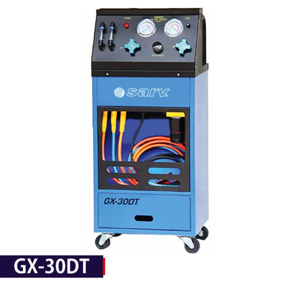 - Engine fuel system flush machine