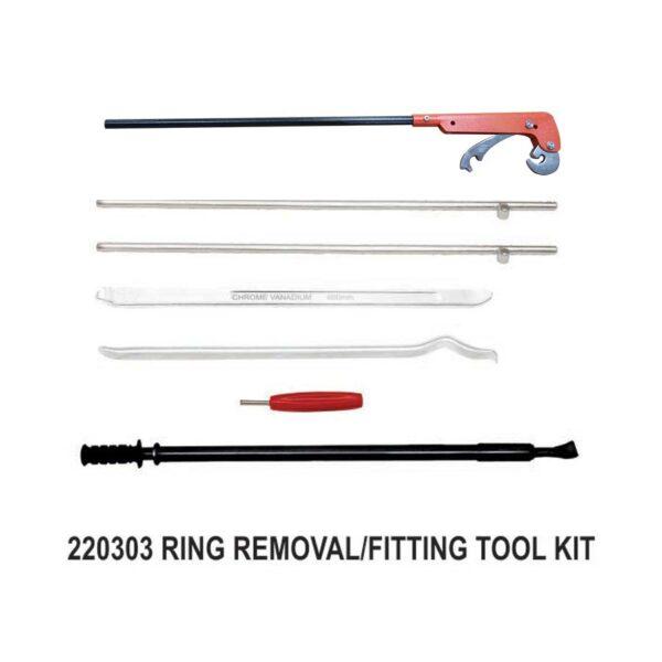 220303 - Sarv-Tubetyre Truck Bus Tyre Rim Lock Ring Fitting Removal Tool Kit