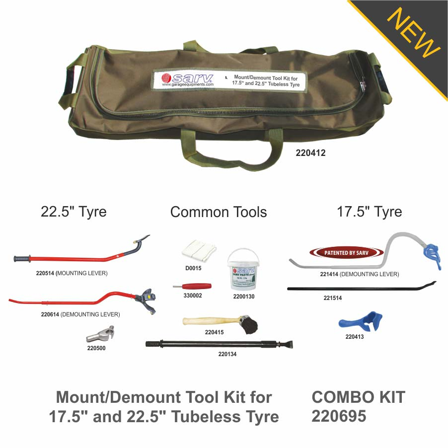 COMBO-KIT-Mount-Demount-Tool-Kit-for-17.5in-and-22.5in-Tubeless-Tyre