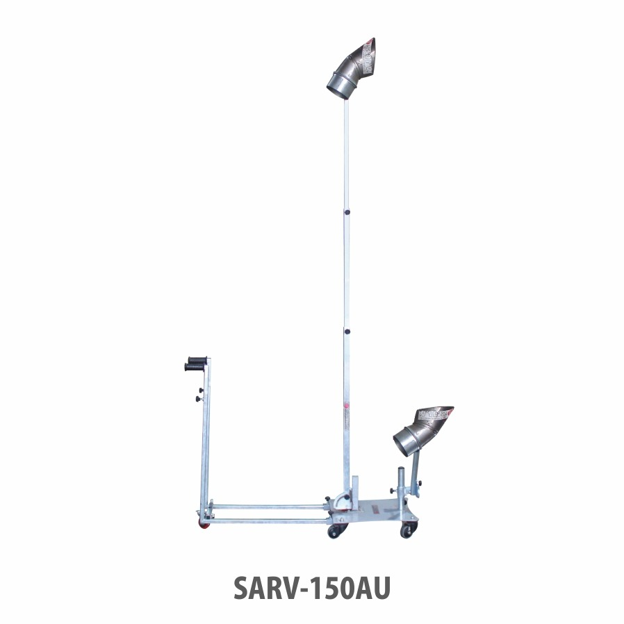 Sarv's Universal Patented Support Trolley for Fume Extraction Systems