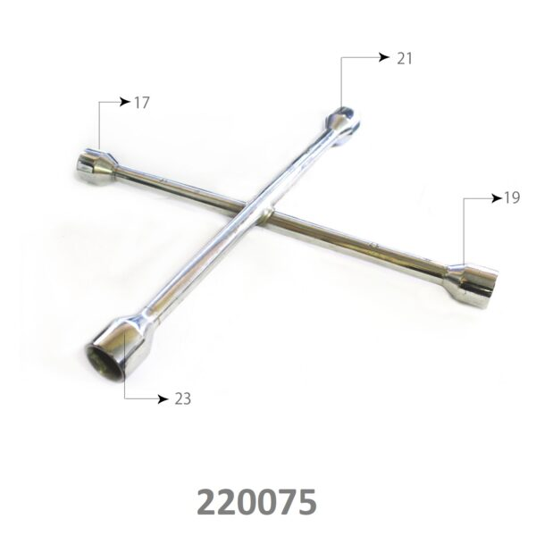 SARV Universal 4 way Cross Hex ,Wheel Nut Wrench 17mm X19mmx21mm x23mm